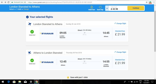 London to Athens 43.98