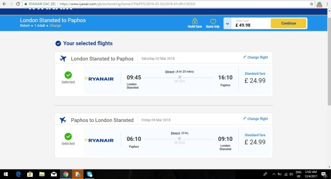 London to Cyprus 49.98