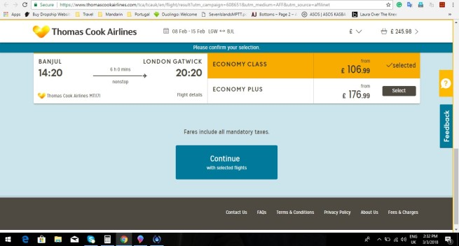 London to Banjul 245.98