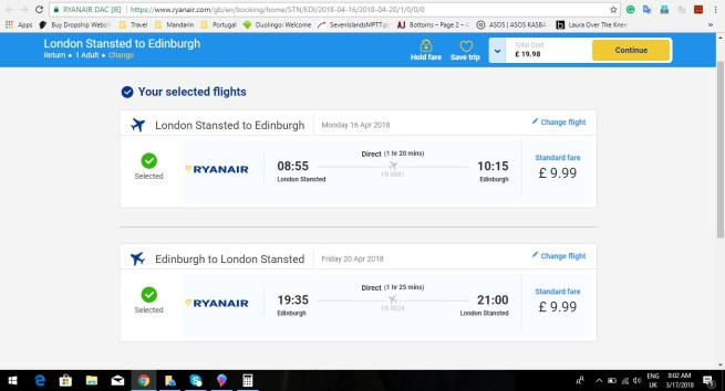 London to Edinburgh 19.98