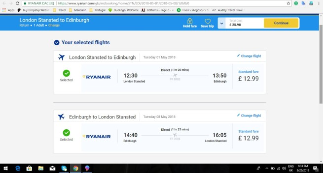 London to Edinburgh 25.98