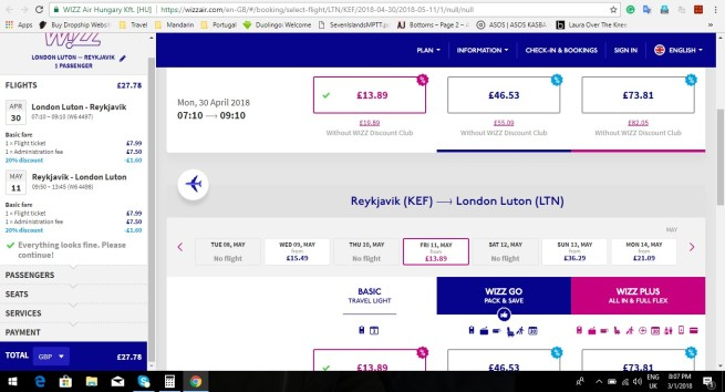 London to Reykjavik 27.78