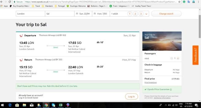 London to Cape Verde 179.83