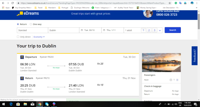 London to Dublin 24.33